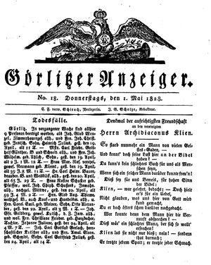 Görlitzer Anzeiger vom 01.05.1828