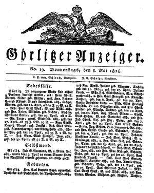 Görlitzer Anzeiger vom 08.05.1828