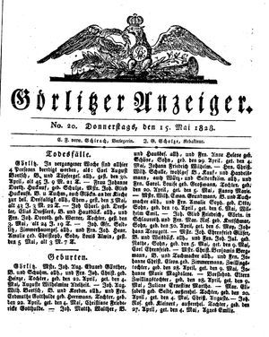 Görlitzer Anzeiger vom 15.05.1828
