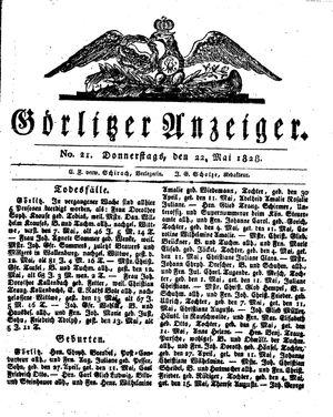 Görlitzer Anzeiger vom 22.05.1828