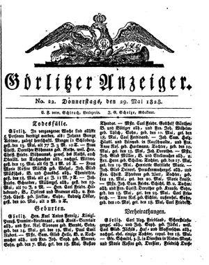 Görlitzer Anzeiger vom 29.05.1828