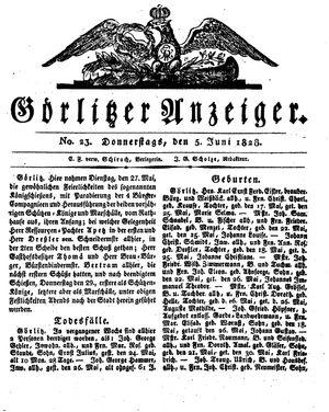 Görlitzer Anzeiger vom 05.06.1828