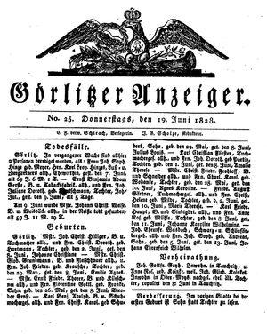 Görlitzer Anzeiger vom 19.06.1828