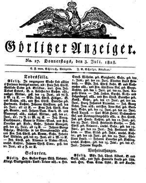 Görlitzer Anzeiger vom 03.07.1828