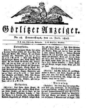 Görlitzer Anzeiger vom 10.07.1828