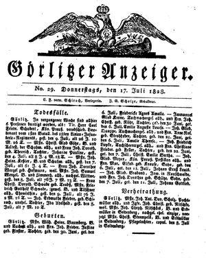 Görlitzer Anzeiger vom 17.07.1828