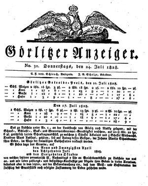 Görlitzer Anzeiger vom 24.07.1828