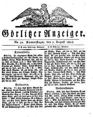 Görlitzer Anzeiger vom 07.08.1828
