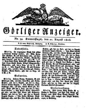Görlitzer Anzeiger vom 21.08.1828