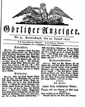 Görlitzer Anzeiger vom 28.08.1828