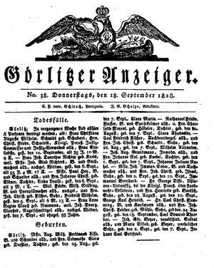 Görlitzer Anzeiger vom 18.09.1828