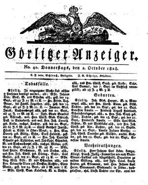 Görlitzer Anzeiger on Oct 2, 1828
