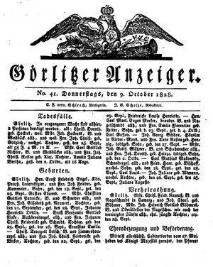Görlitzer Anzeiger vom 09.10.1828