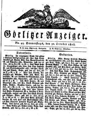 Görlitzer Anzeiger vom 30.10.1828