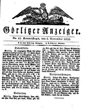 Görlitzer Anzeiger vom 06.11.1828