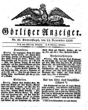 Görlitzer Anzeiger vom 13.11.1828