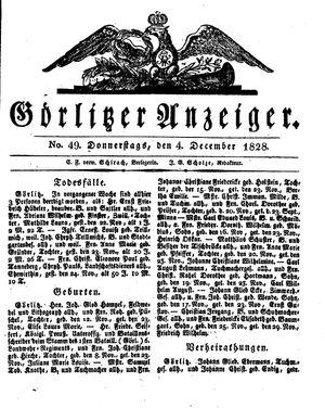 Görlitzer Anzeiger vom 04.12.1828
