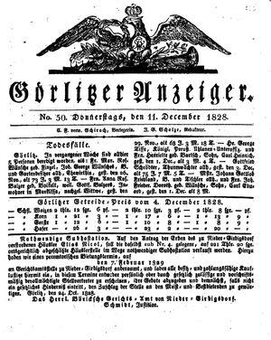 Görlitzer Anzeiger vom 11.12.1828