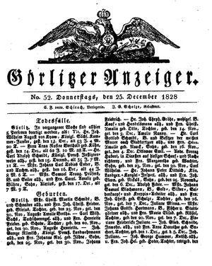 Görlitzer Anzeiger on Dec 25, 1828