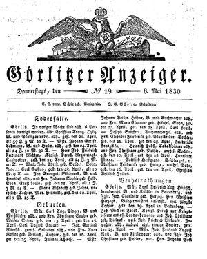 Görlitzer Anzeiger vom 06.05.1830