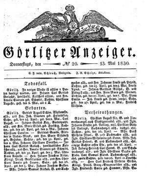 Görlitzer Anzeiger vom 13.05.1830