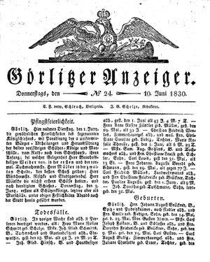 Görlitzer Anzeiger vom 10.06.1830