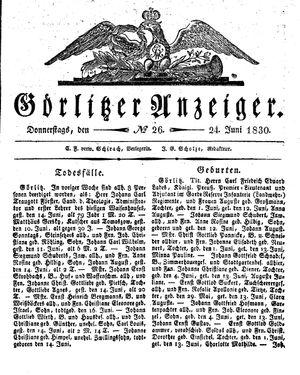 Görlitzer Anzeiger vom 24.06.1830