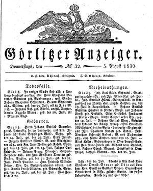 Görlitzer Anzeiger vom 05.08.1830