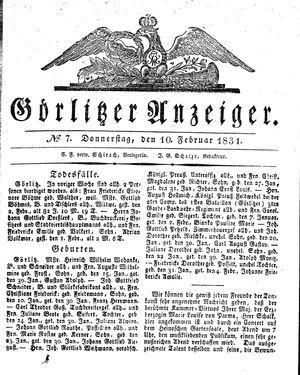 Görlitzer Anzeiger on Feb 10, 1831