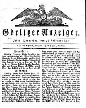 Görlitzer Anzeiger vom 24.02.1831