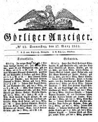 Görlitzer Anzeiger (17.03.1831)