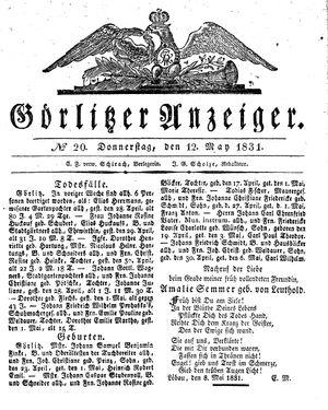 Görlitzer Anzeiger vom 12.05.1831