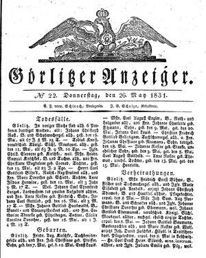 Görlitzer Anzeiger vom 26.05.1831