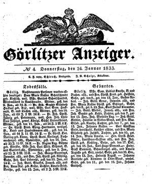 Görlitzer Anzeiger vom 24.01.1833