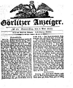 Görlitzer Anzeiger vom 09.05.1833