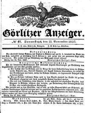 Görlitzer Anzeiger vom 23.11.1837