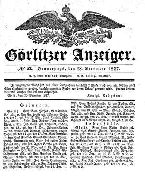 Görlitzer Anzeiger vom 28.12.1837