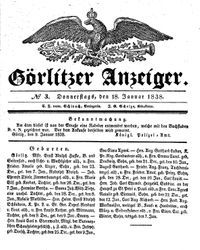 Görlitzer Anzeiger (18.01.1838)