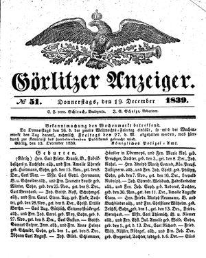 Görlitzer Anzeiger vom 19.12.1839