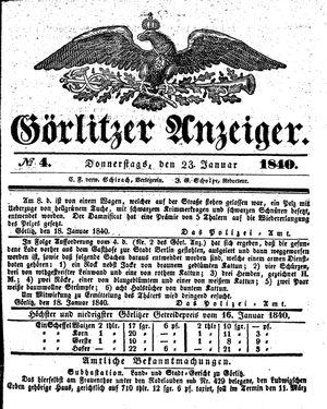 Görlitzer Anzeiger on Jan 23, 1840