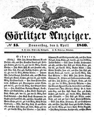 Görlitzer Anzeiger on Apr 9, 1840