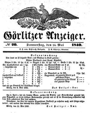 Görlitzer Anzeiger vom 14.05.1840