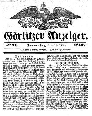 Görlitzer Anzeiger on May 21, 1840