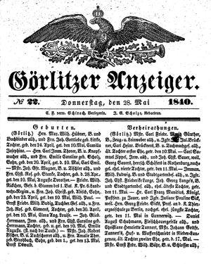 Görlitzer Anzeiger vom 28.05.1840
