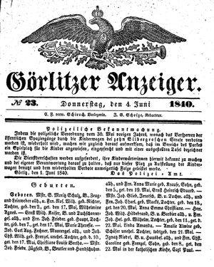 Görlitzer Anzeiger vom 04.06.1840