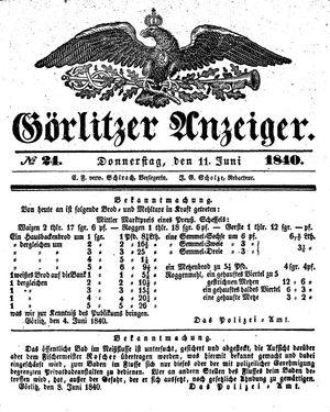Görlitzer Anzeiger vom 11.06.1840