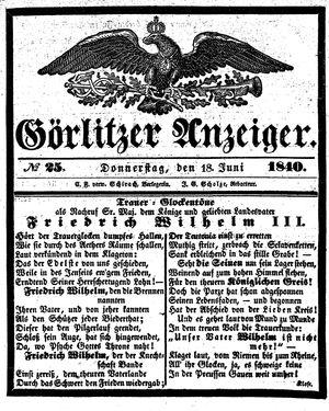 Görlitzer Anzeiger on Jun 18, 1840