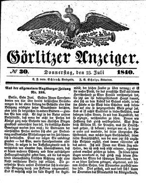 Görlitzer Anzeiger on Jul 23, 1840