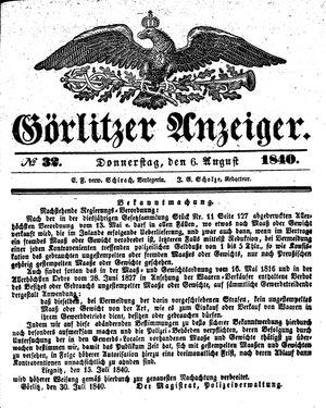 Görlitzer Anzeiger on Aug 6, 1840