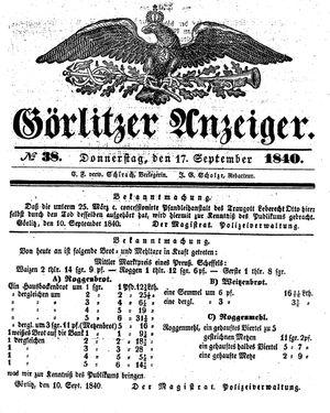 Görlitzer Anzeiger on Sep 17, 1840